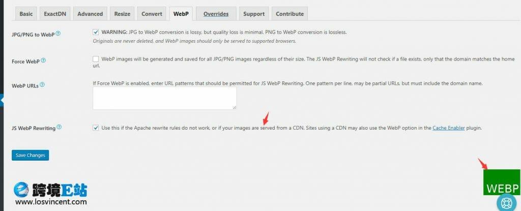 webp-js重写功能